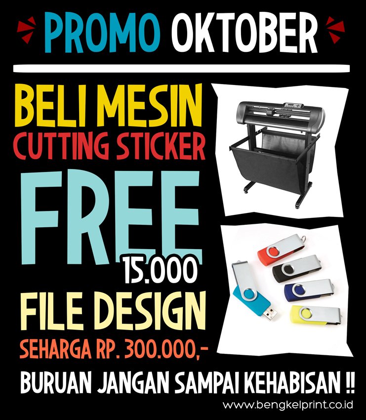 Promo mesin cutting sticker bonus design corel draw