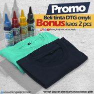 PROMO Beli Tinta DTG CMYK 100ml Bonus Kaos 2pcs