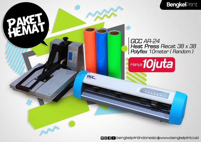 Super promo mesin cutting gcc promo agustus paket mesin cutting sticker