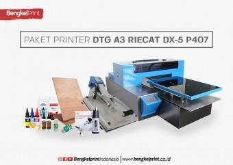 Paket Printer DTG A3 Riecat Tranz Dx-5