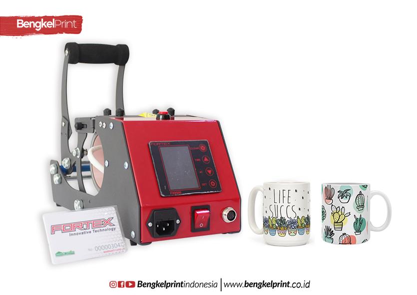 Bisnis MUG Custom Rumahan Dengan Press FORTEX FXT-50