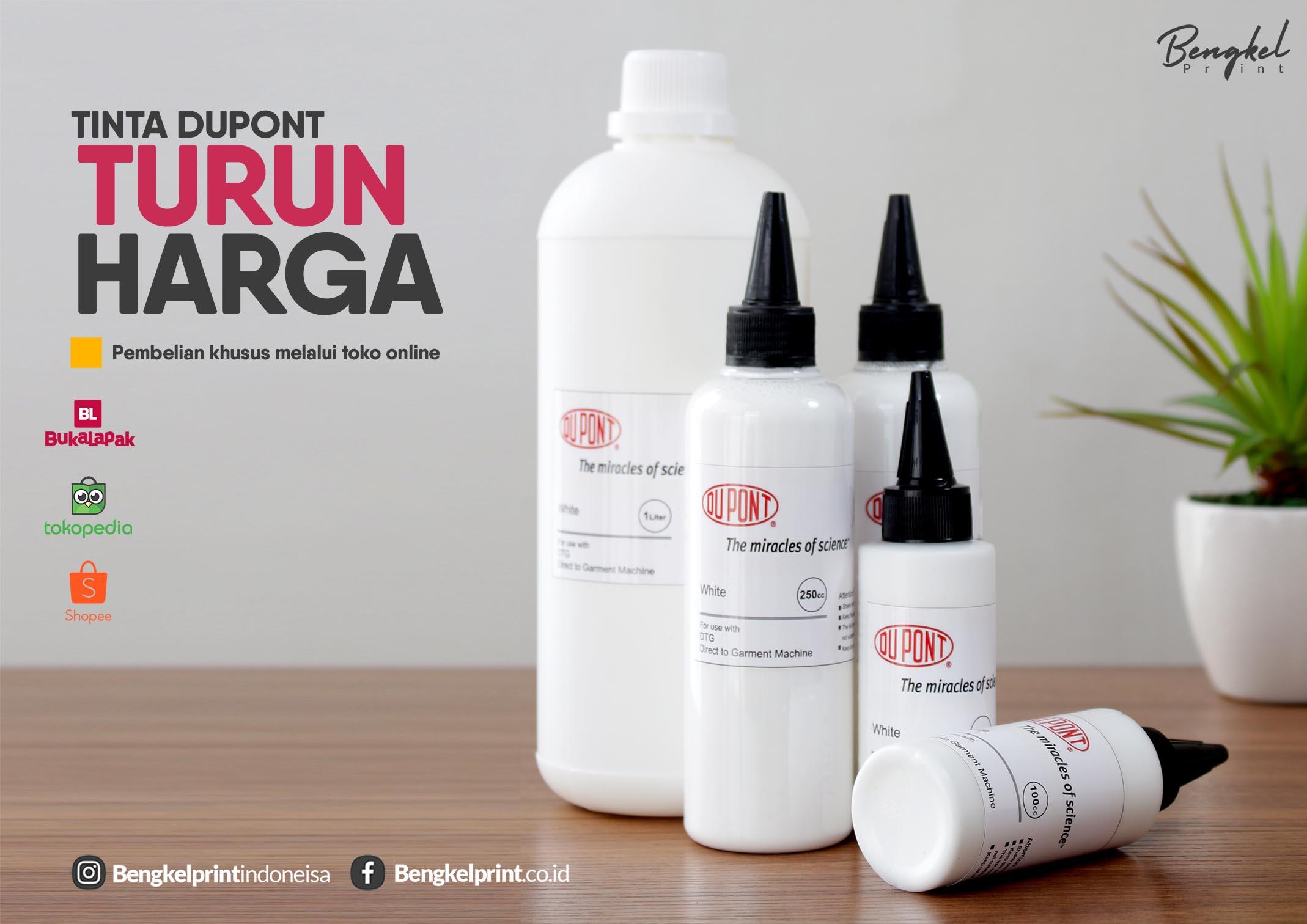 Tinta Dupont White Ink DTG Ganti Harga 2019