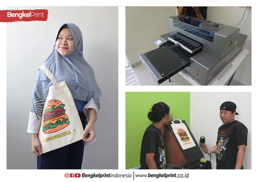 Sablon Totebag 30x36 Pakai DTG RIECAT Ala Bengkel Print
