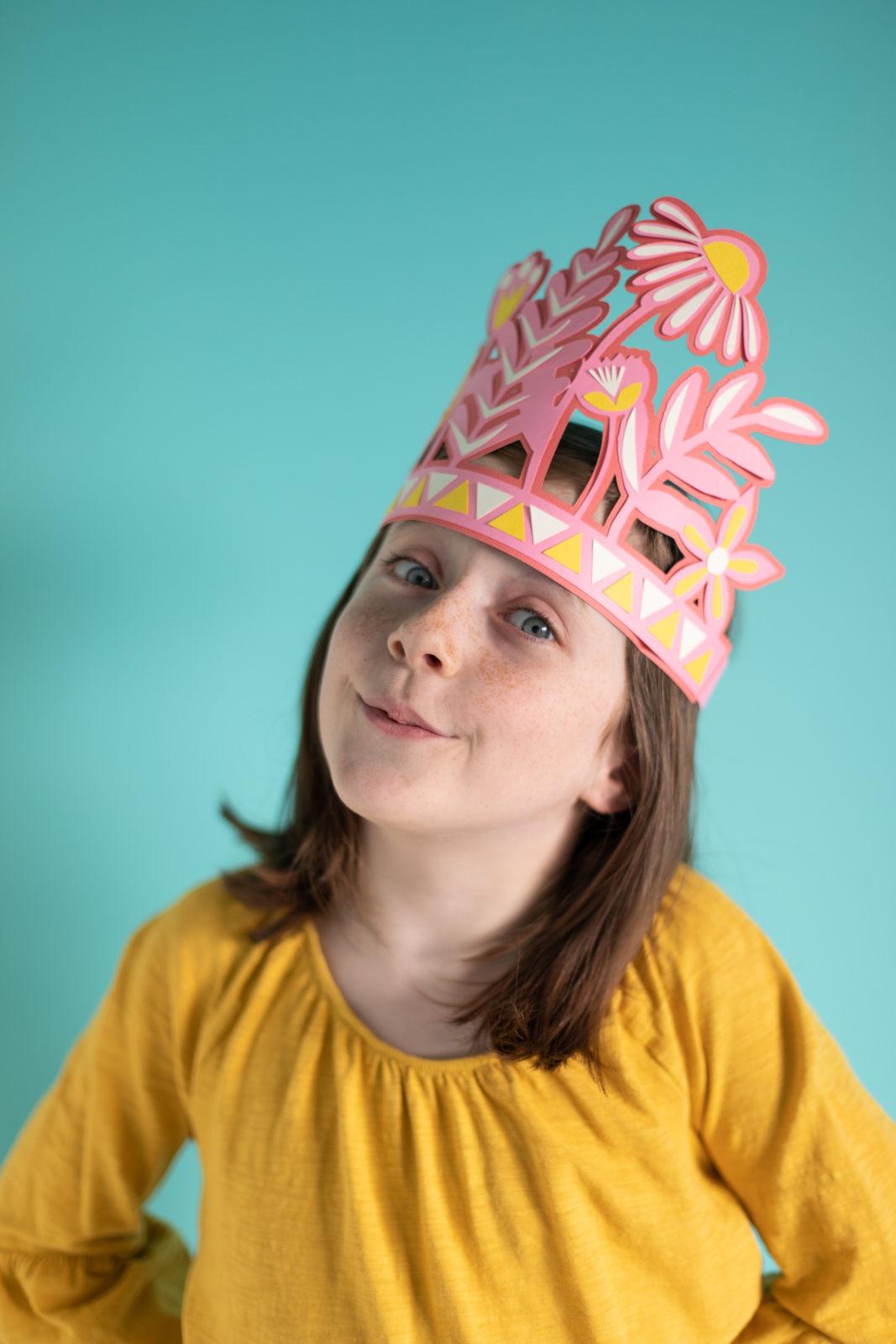 custom cutting flower crown