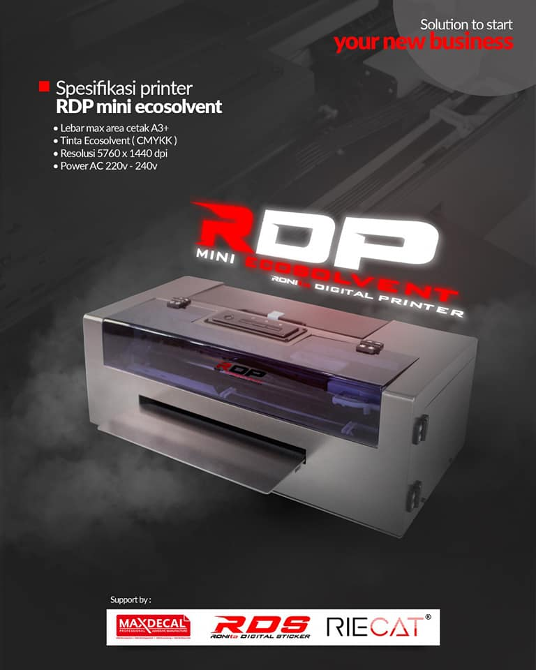 mesin printer RDP Mini Ecosolvent tahun 2019