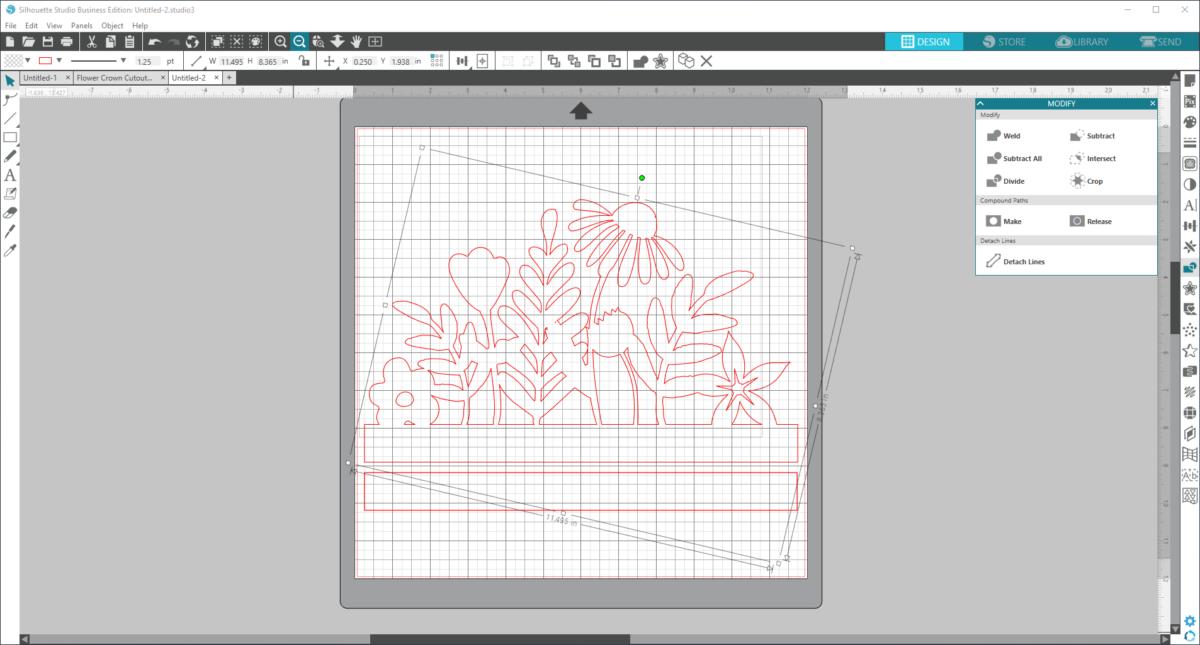 tutorial cutting paper cut flower crowns
