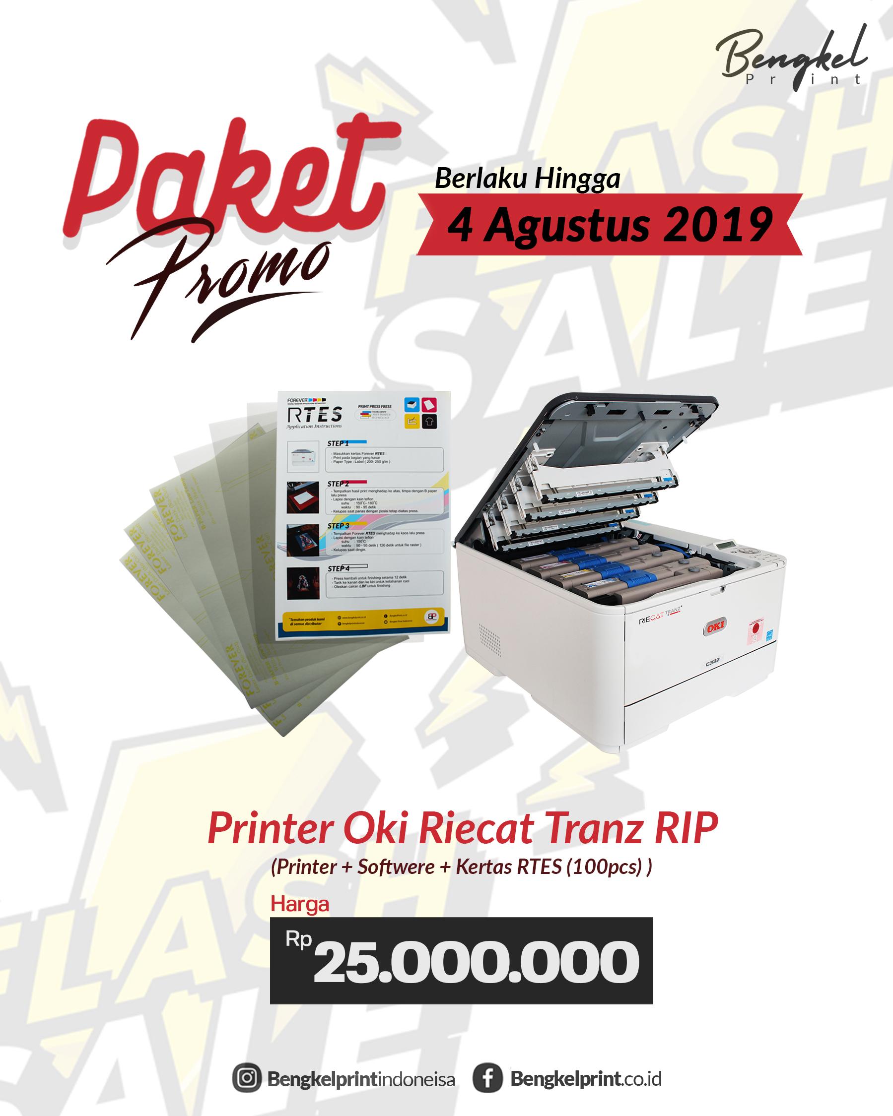 promo paket usaha printer OKI RIECAT TRANZ C332 2019