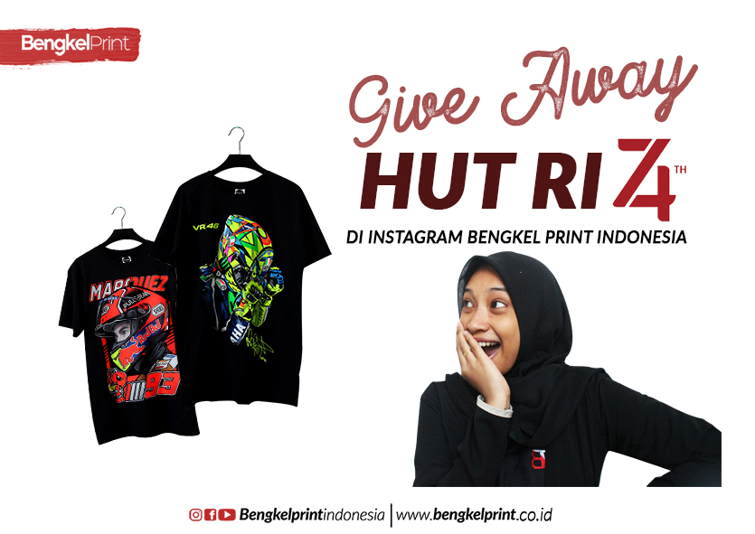 GIVEAWAY HUT RI 74 Di Instagram Bengkel Print Indonesia