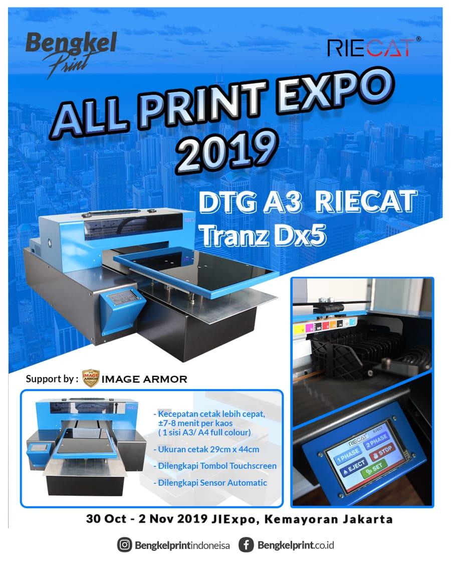 pameran printer DTG DX5 Di JIEXPO kemayoran jakarta 2019