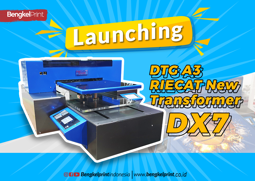 Launching Printer DTG A3 RIECAT New Transformer DX7