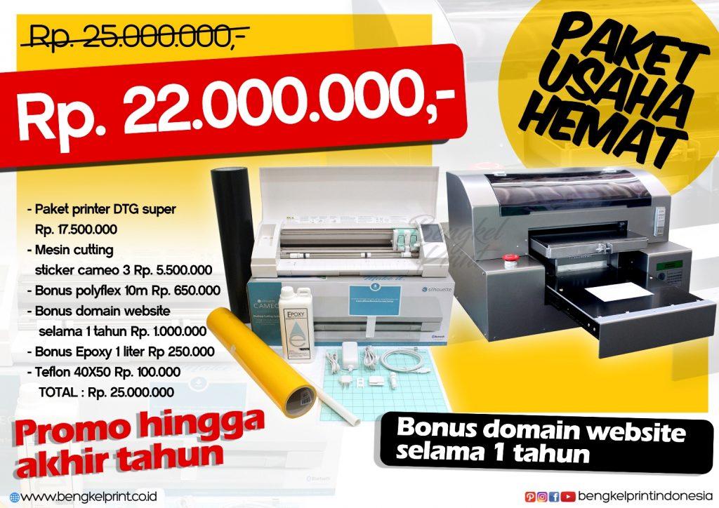 Paket Hemat Printer DTG dan Cutting Sticker Sampai Akhir Tahun 2016