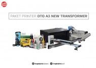 Paket Printer DTG A3 New Transformer High Precision