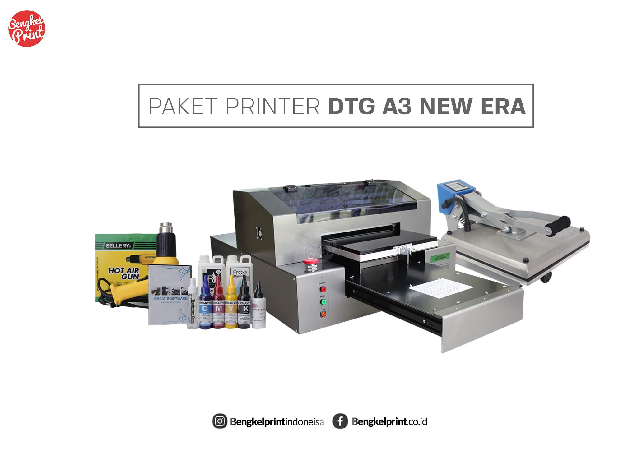 Paket printer dtg a3 new era bengkel print indonesia