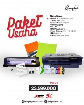 Paket Usaha Printer RDP Mini Ecosolvent + Cutting Sticker Jinka 721NXL AC