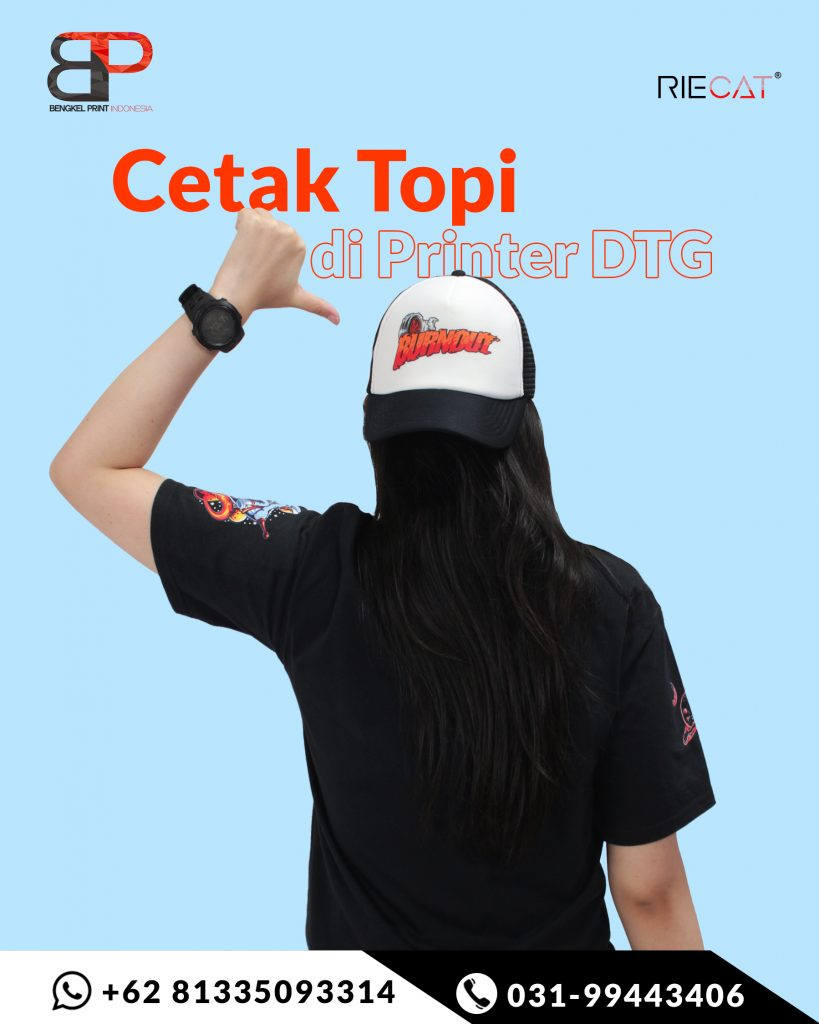 print topi trucker custom