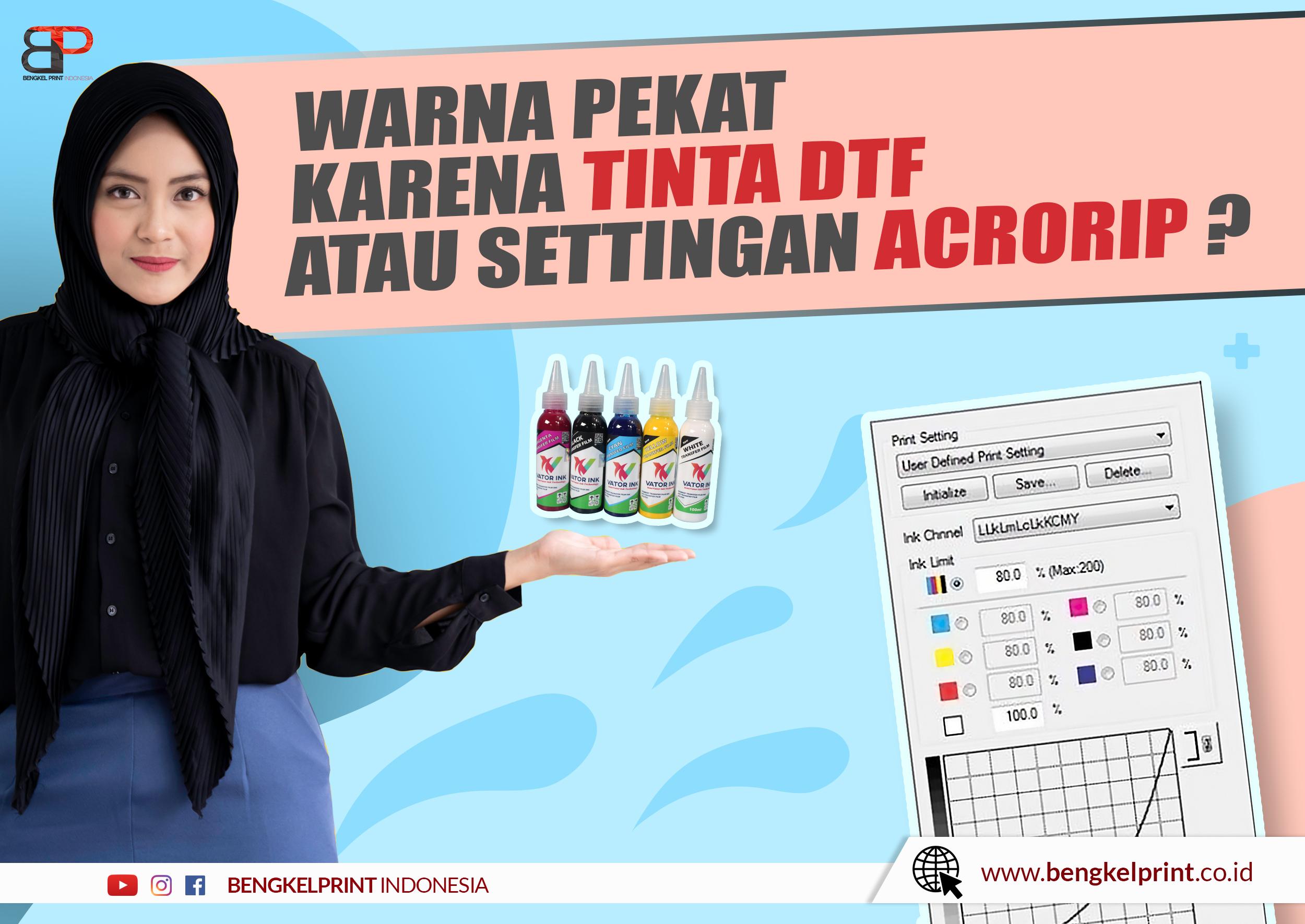 Trik Setting Warna Sablon DTF mudah