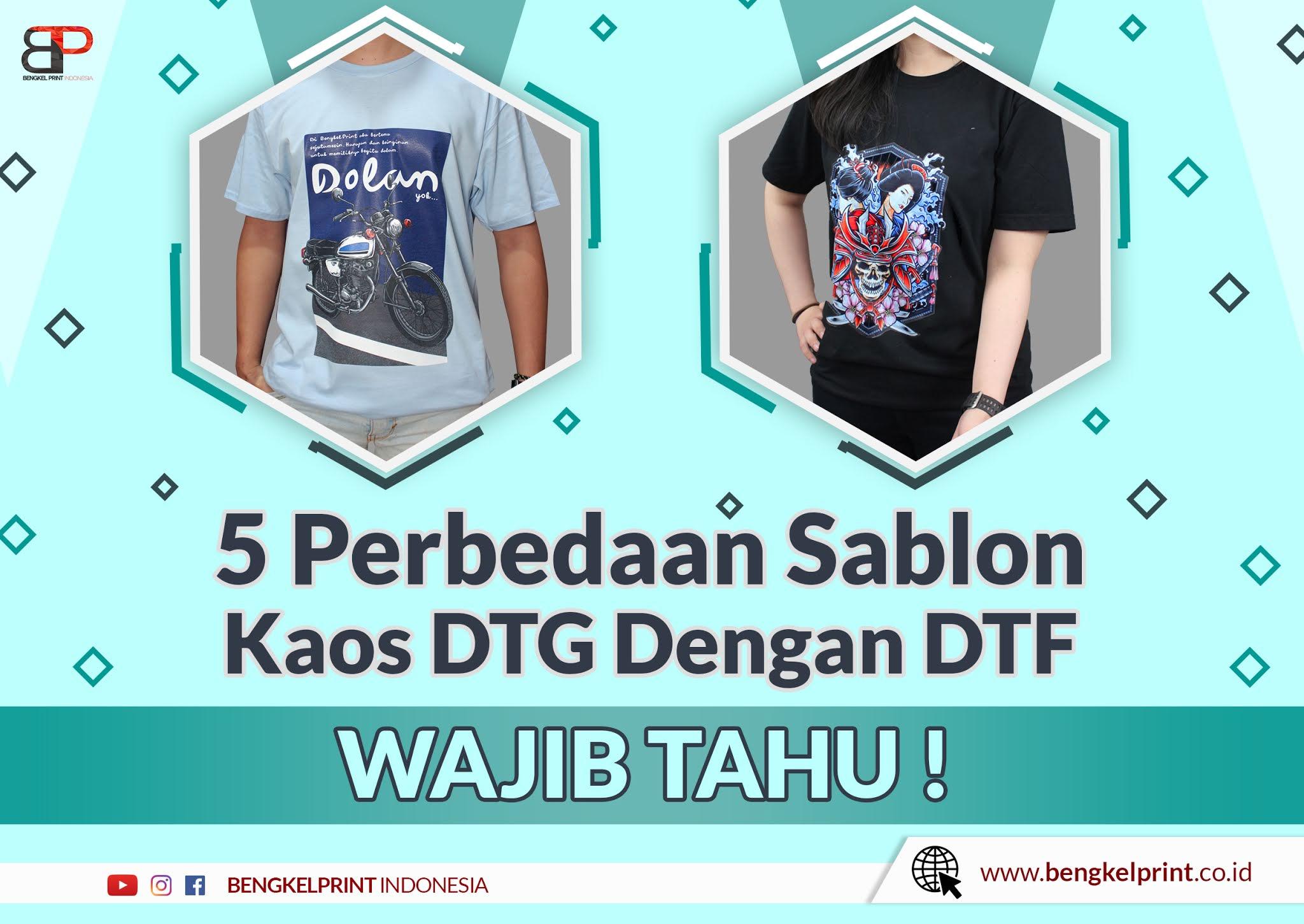 Sablon Kaos Transfer Film DTF