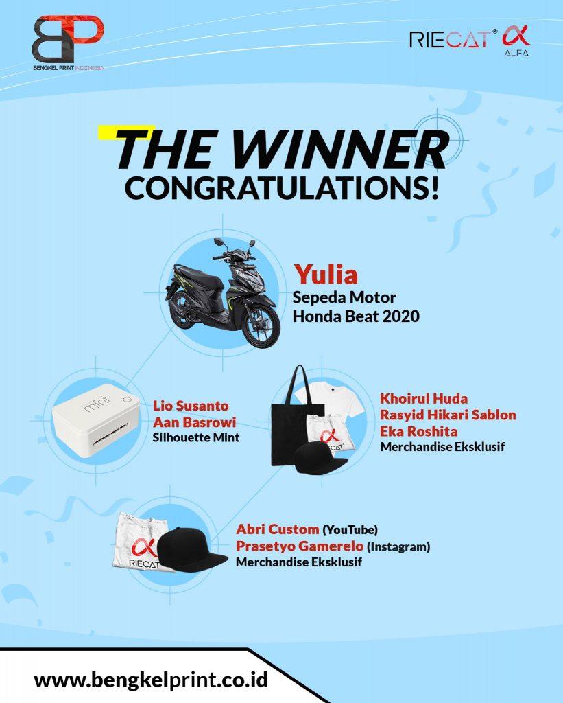 Pemenang giveaway Bengkel Print