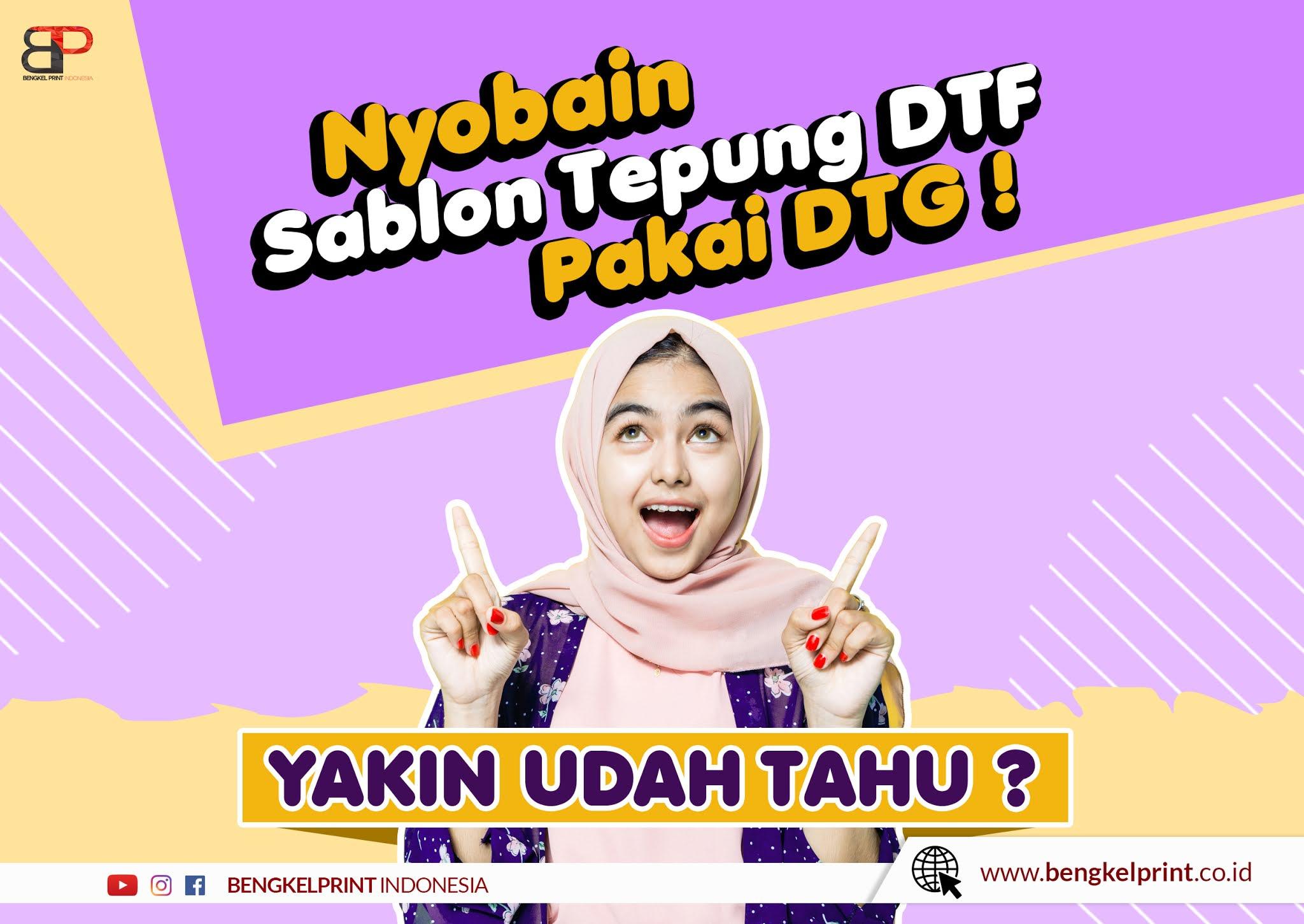 Sablon Kaos DTF Dengan Printer DTG