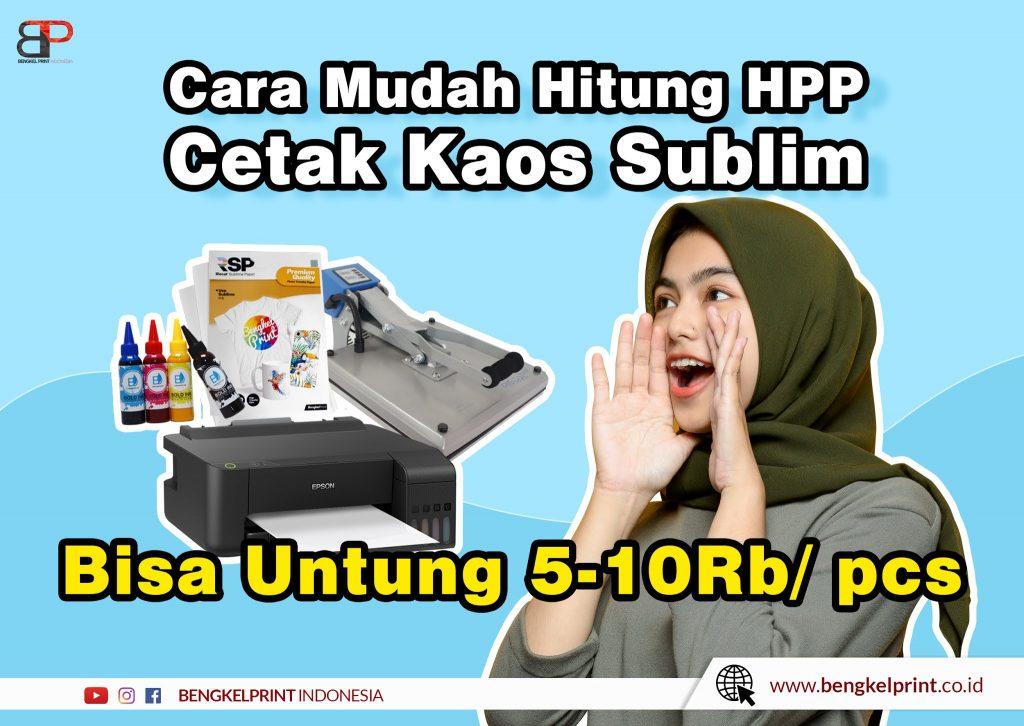 HPP Cetak Kaos Sublimasi