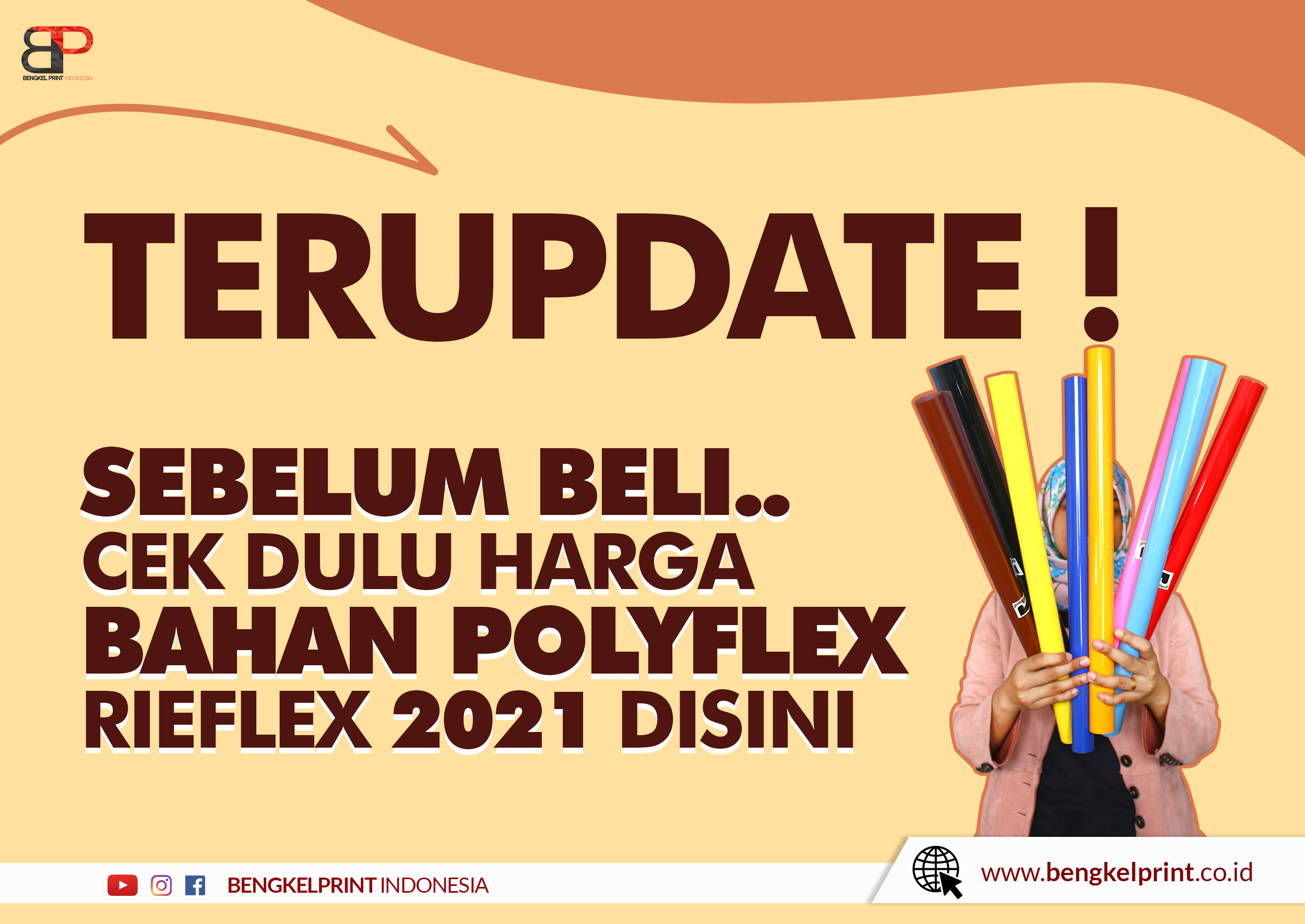 Bahan Polyflex PVC Murah 2021