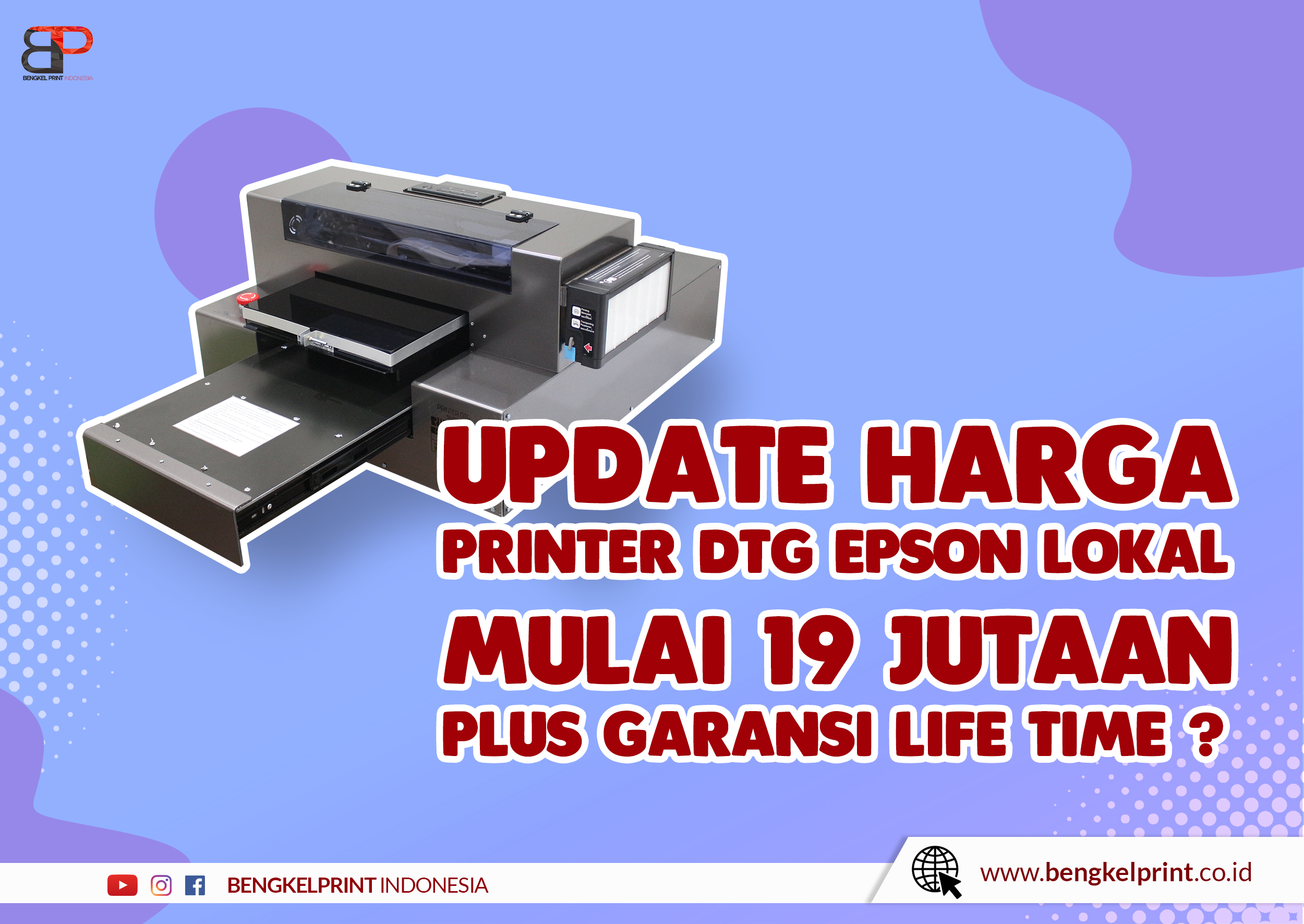 Jual Mesin DTG A3 EPSON Murah