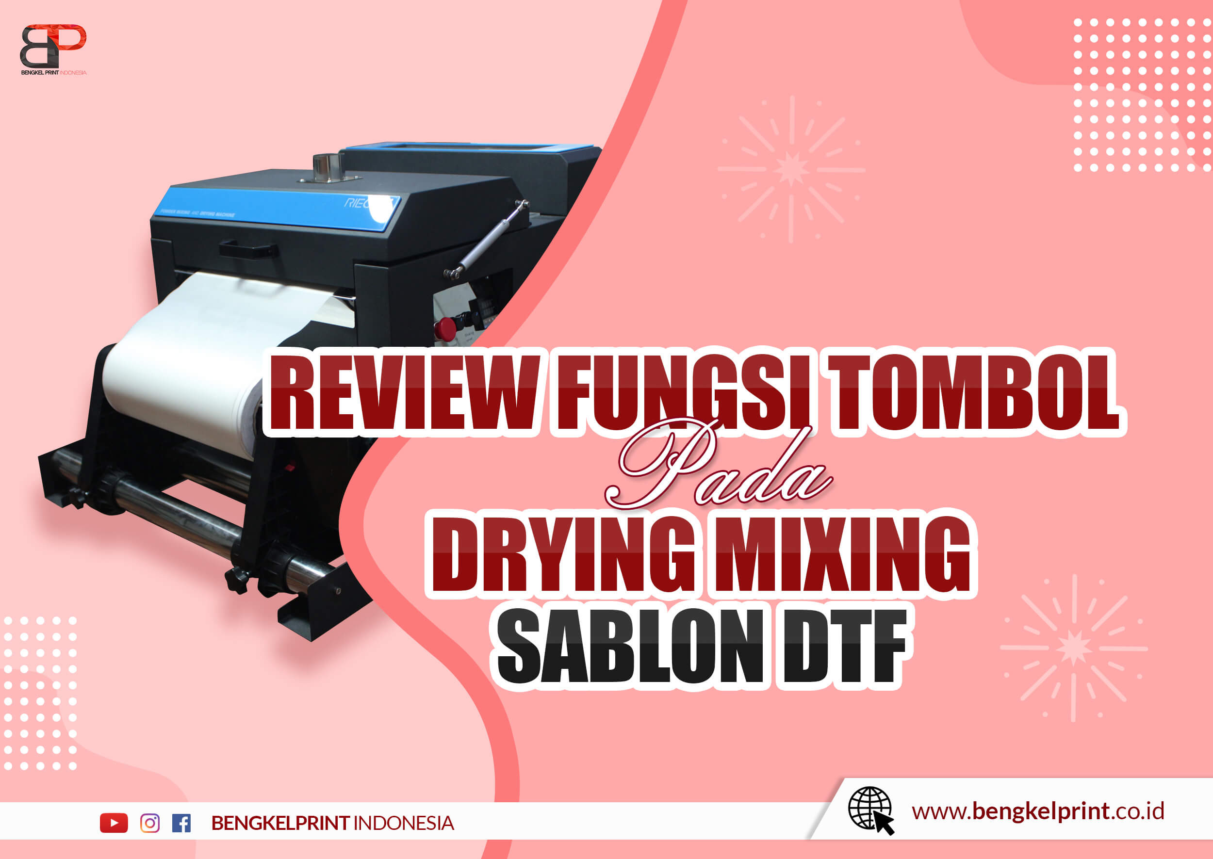kelebihan 10 Fitur Tombol Mesin Drying Mixing Sablon DTF