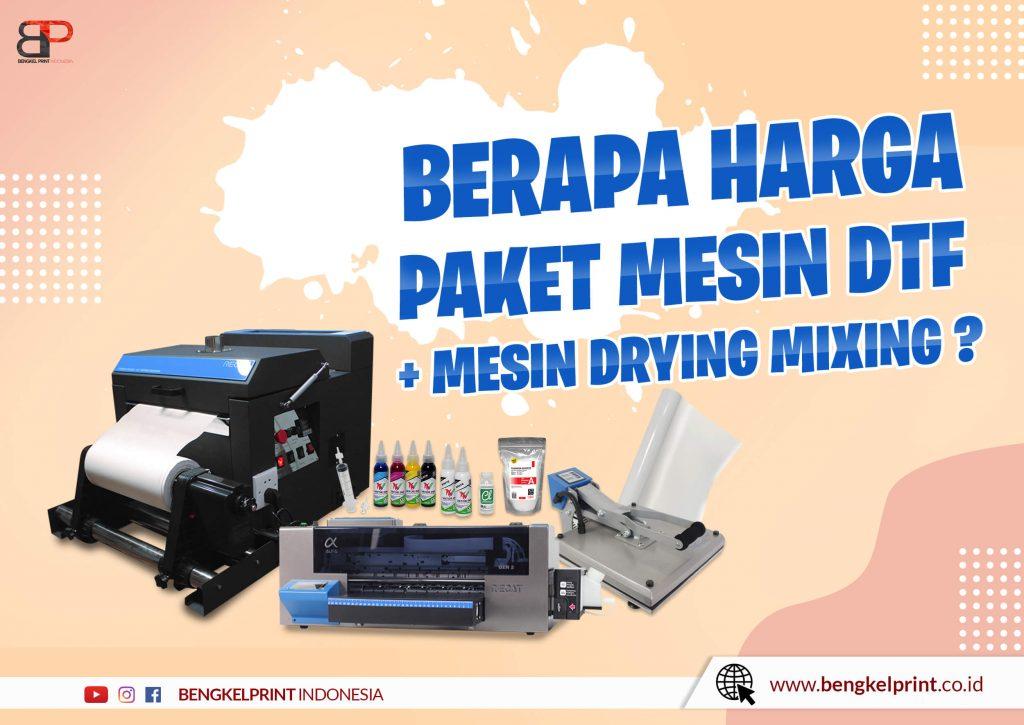 harga Paket Printer Riecat Alfa Plus Mesin Drying