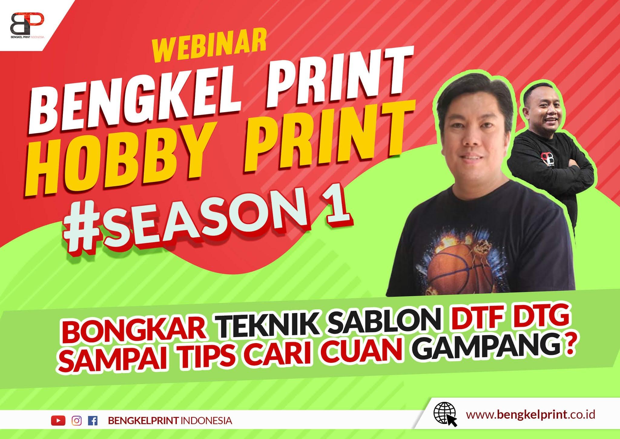 Webinar Bengkel Print x Hobby Print