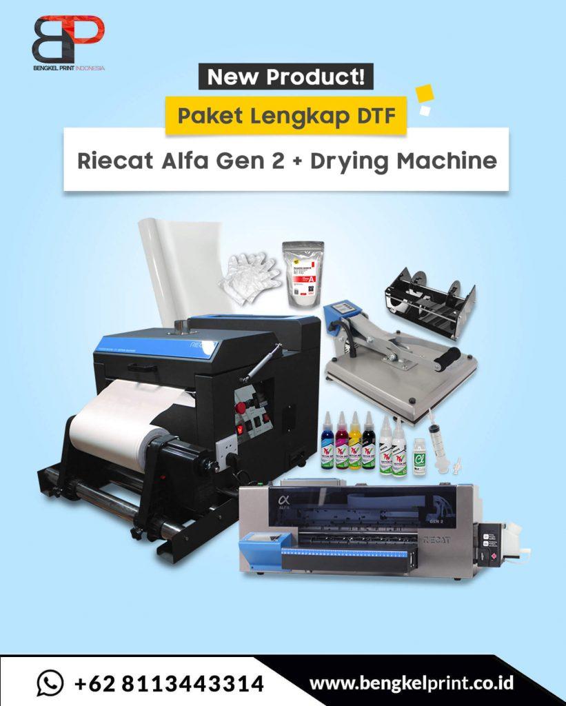 Mesin Printer Riecat Alfa  gen 2 komplit 2021