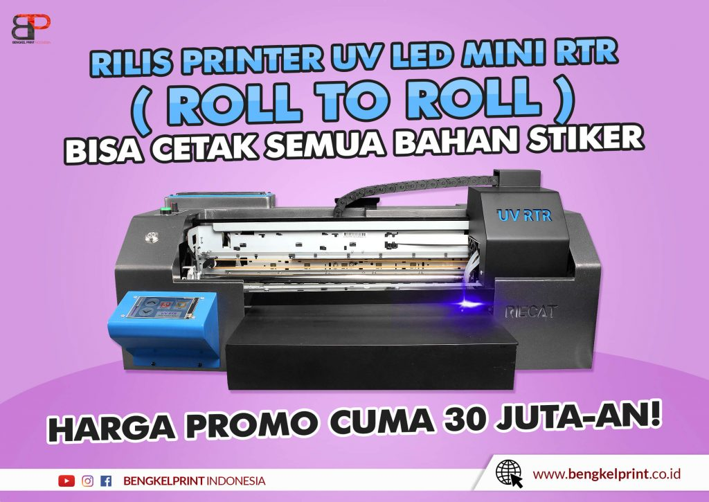 jual printer uv RTR roll to roll A3