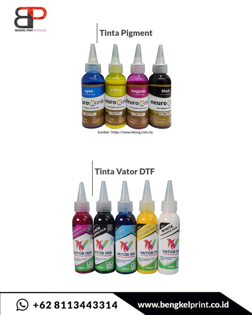 perbedaan tinta pigment dan vator ink